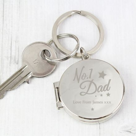 No.1 Dad Photo Keyring